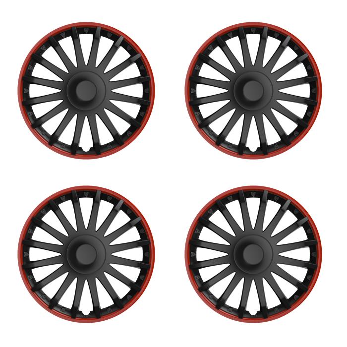 radkappen crystal ro schwarz rot 15 zoll z b mercedes. Black Bedroom Furniture Sets. Home Design Ideas