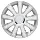 RADKAPPEN - FLASH SILVER WHITE - Silber/Weiß