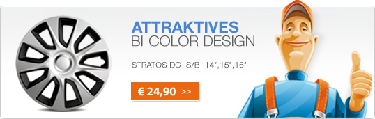 Attratives Bi-Color Design - Stratos silber/schwarz - Banner
