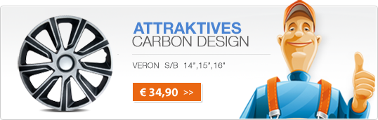 Attratives Bi-Color Design - VERON CARBON SILBER/SCHWARZ - Banner