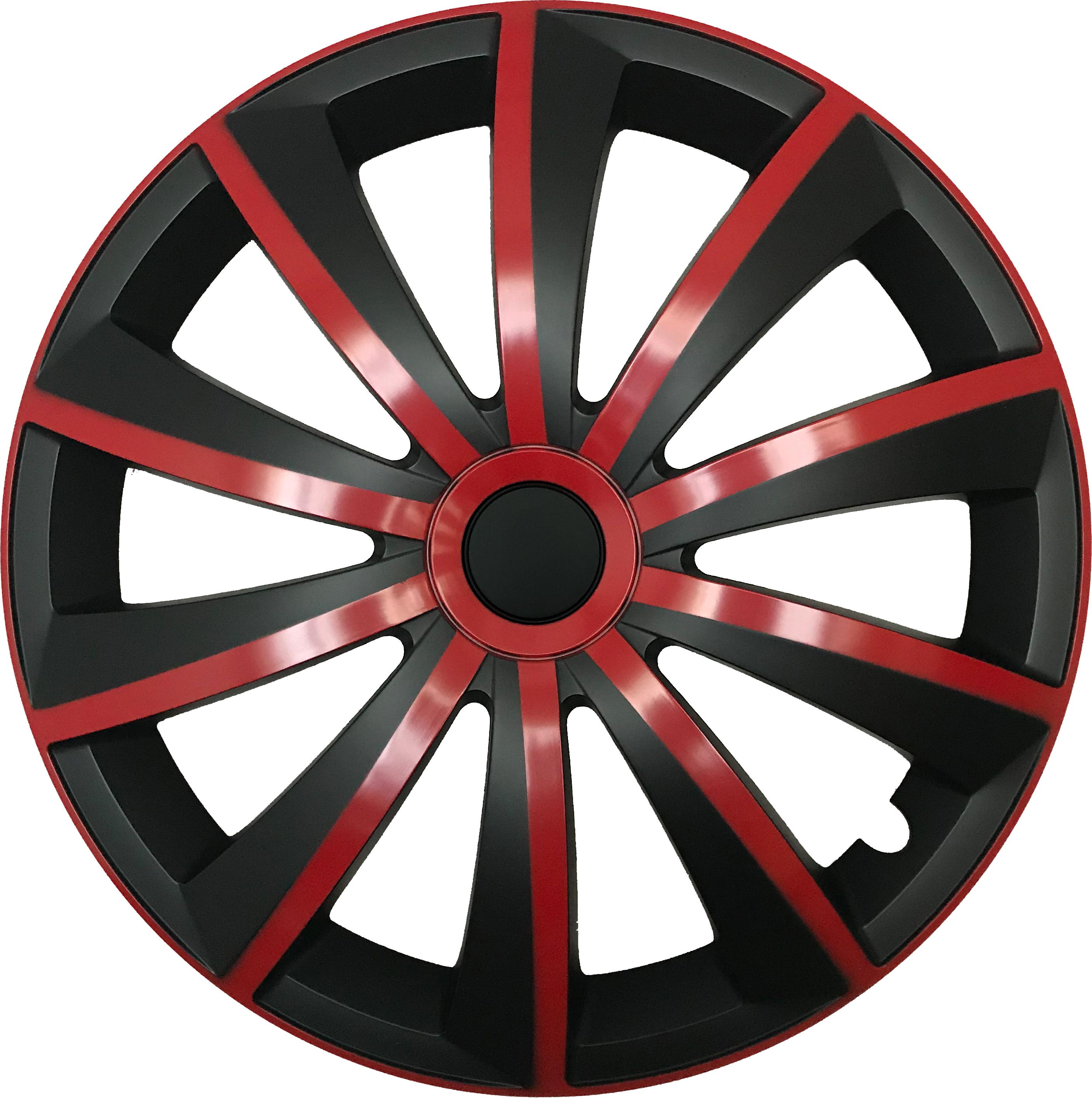 radkappen gral rot schwarz 16 zoll radzierblenden set. Black Bedroom Furniture Sets. Home Design Ideas