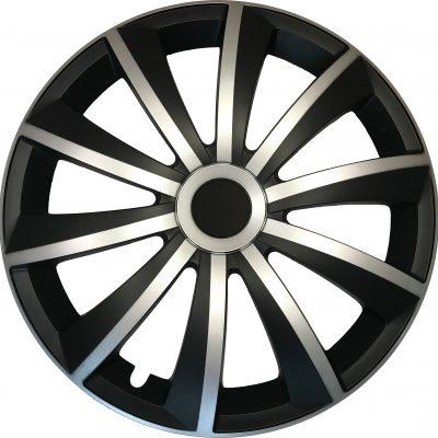 GRAL silver/black - Auto-Radkappen