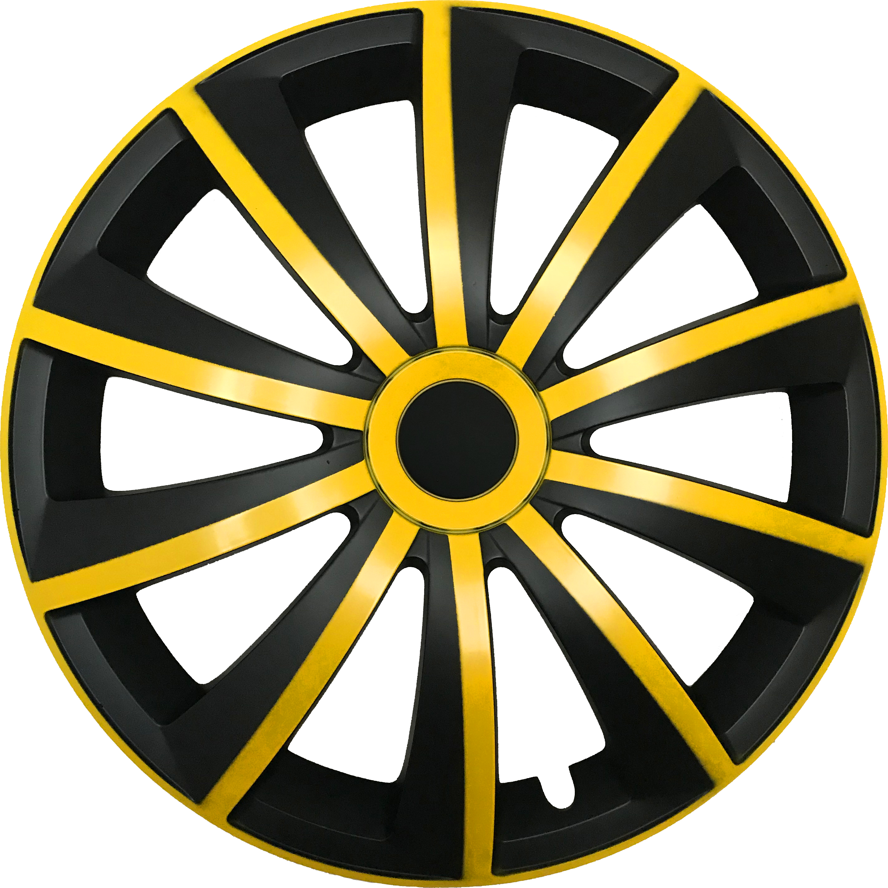 GRAL yellow/black - Auto-Radkappen