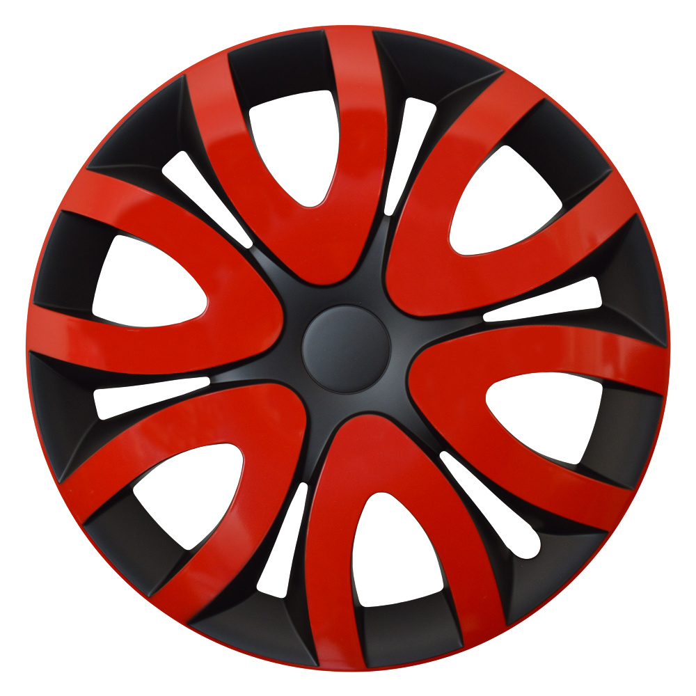 MIKA rot schwarz - Auto-Radkappen