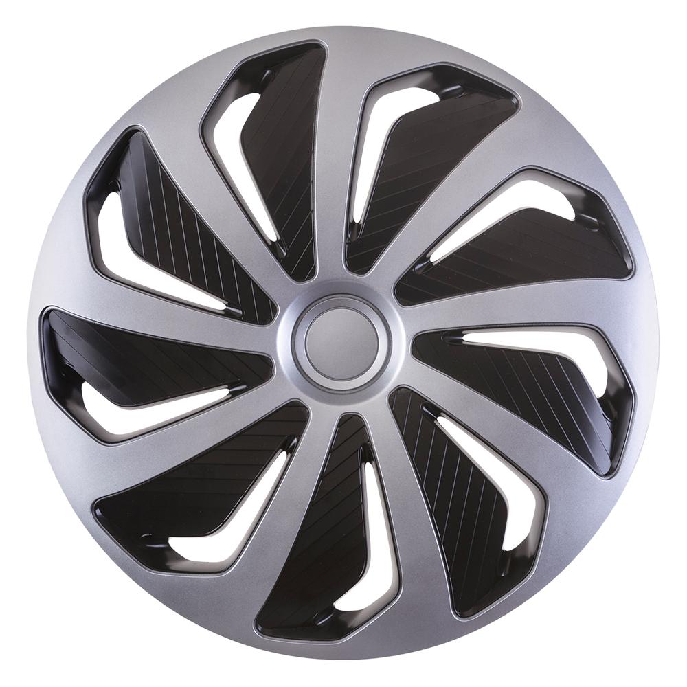 Radkappen Wind Silber Schwarz