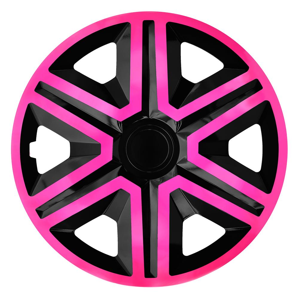 Radkappen Action pink schwarz Radzierblenden