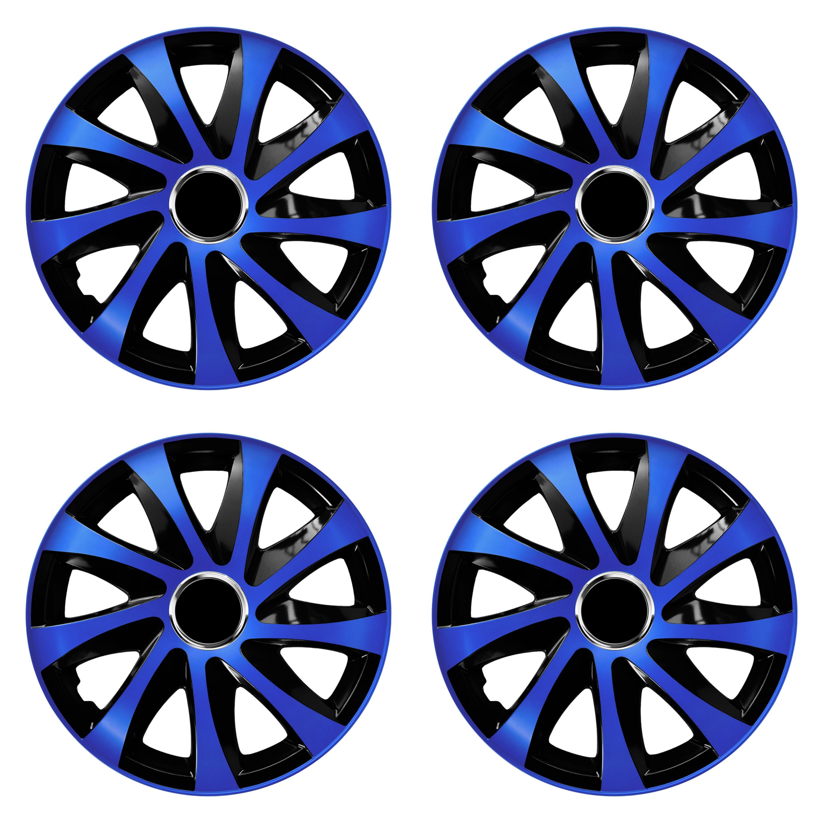 Radkappen Drift Extra blau schwarz Radzierblenden