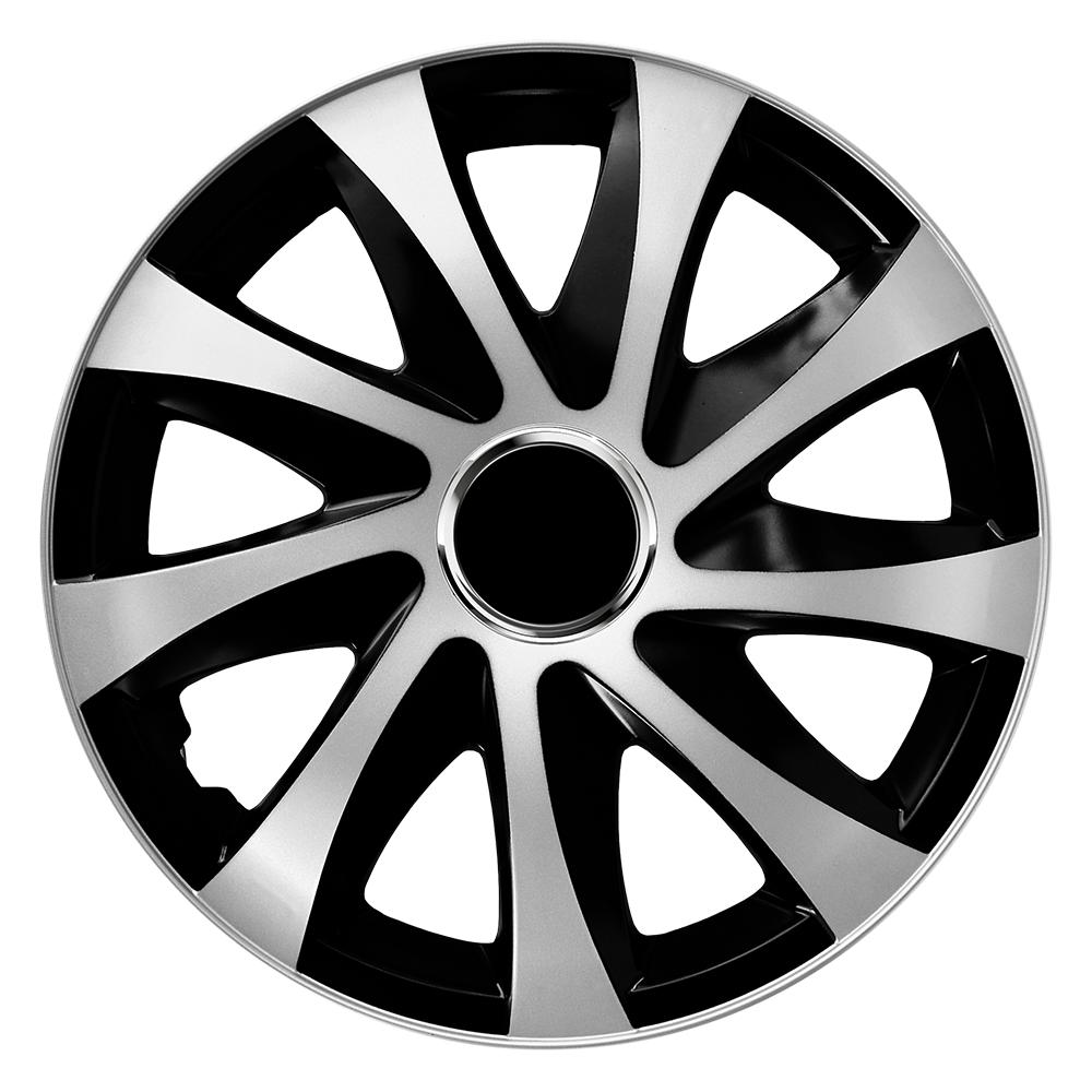 Radkappen Drift Extra silber schwarz Radzierblenden
