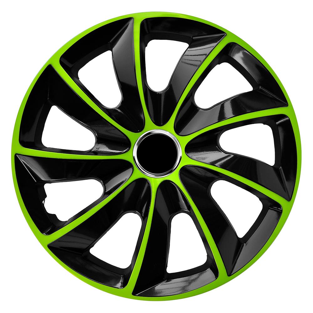 Radkappen Stig Extra grün schwarz Radzierblenden