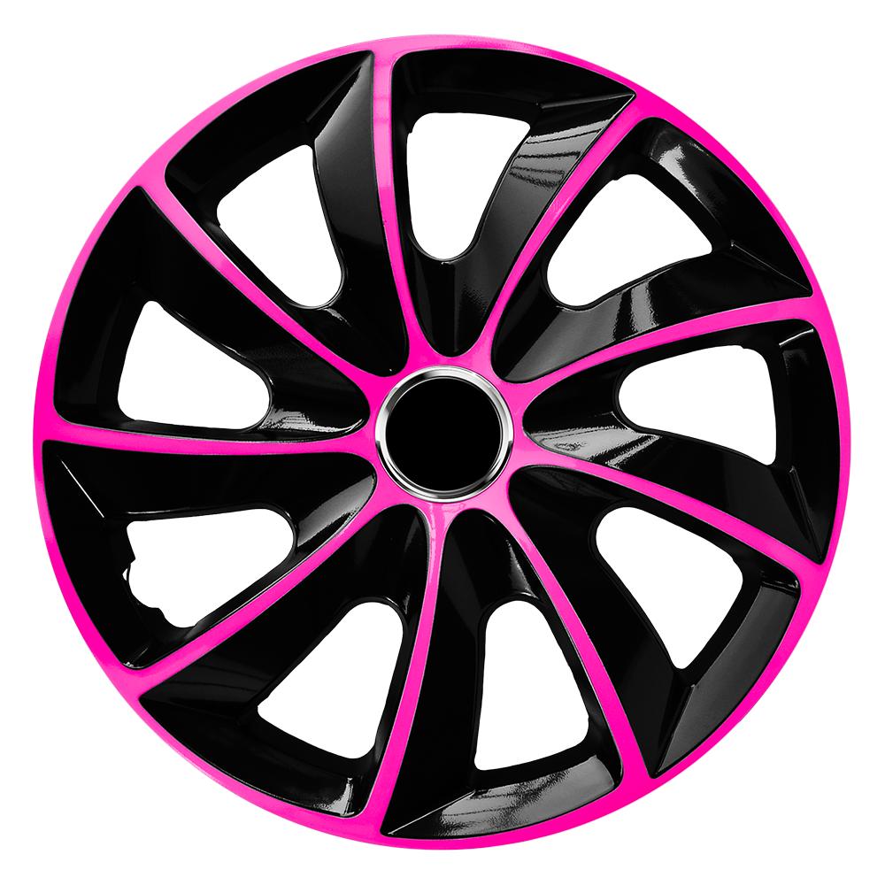 Radkappen Stig Extra pink schwarz Radzierblenden