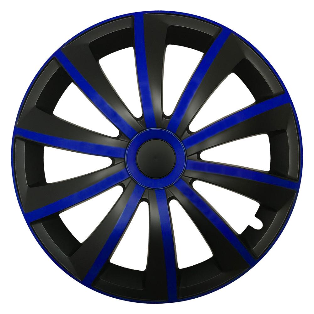 Radkappen Gral blau schwarz