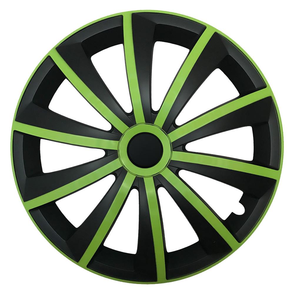 Radkappen Gral grün schwarz
