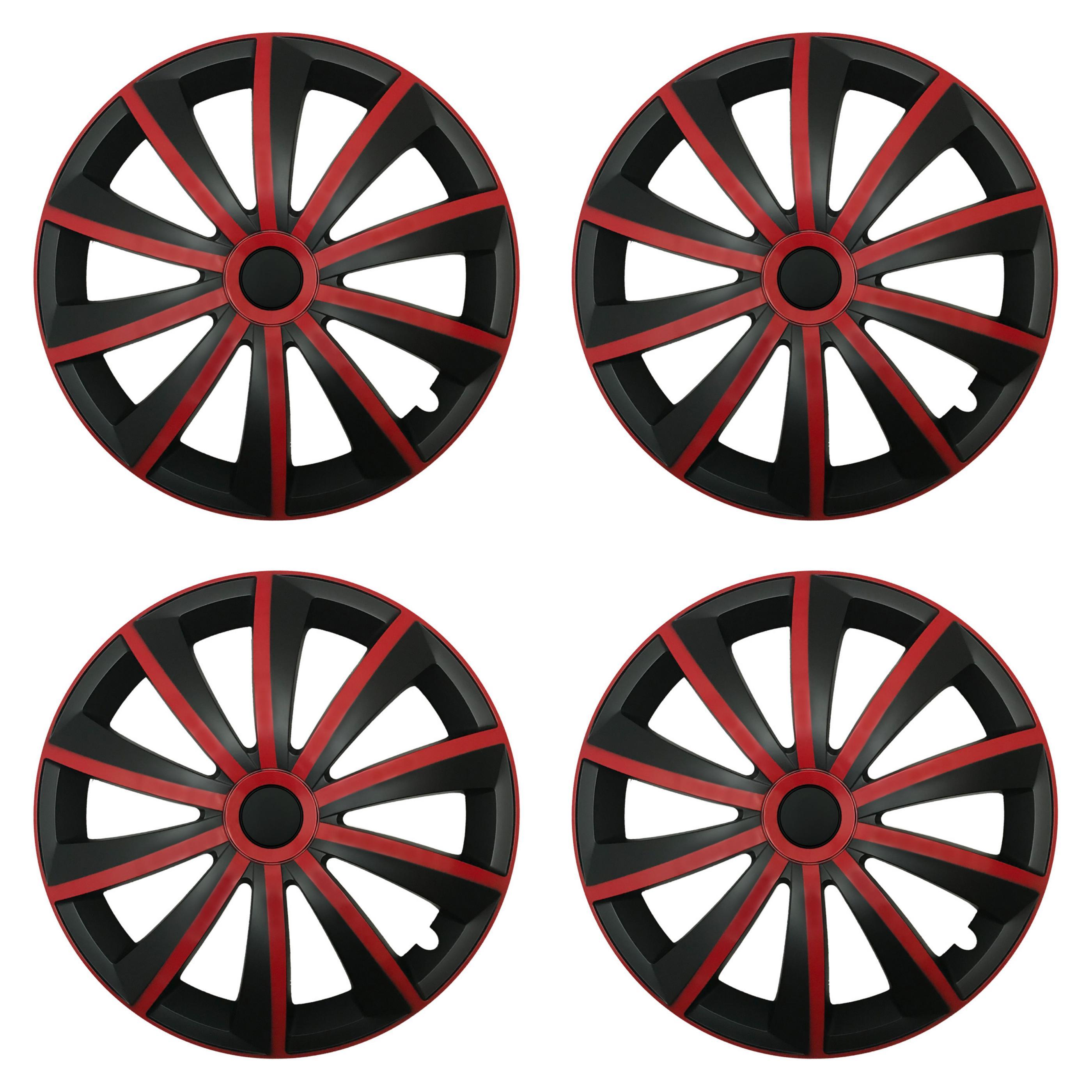 Radkappen Gral rot schwarz