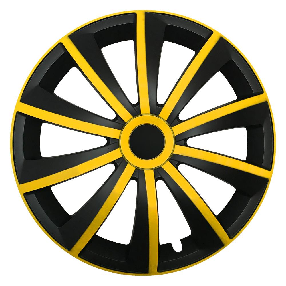 Radkappen Gral gelb schwarz