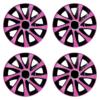 Radkappen Drift Extra pink schwarz Radzierblenden